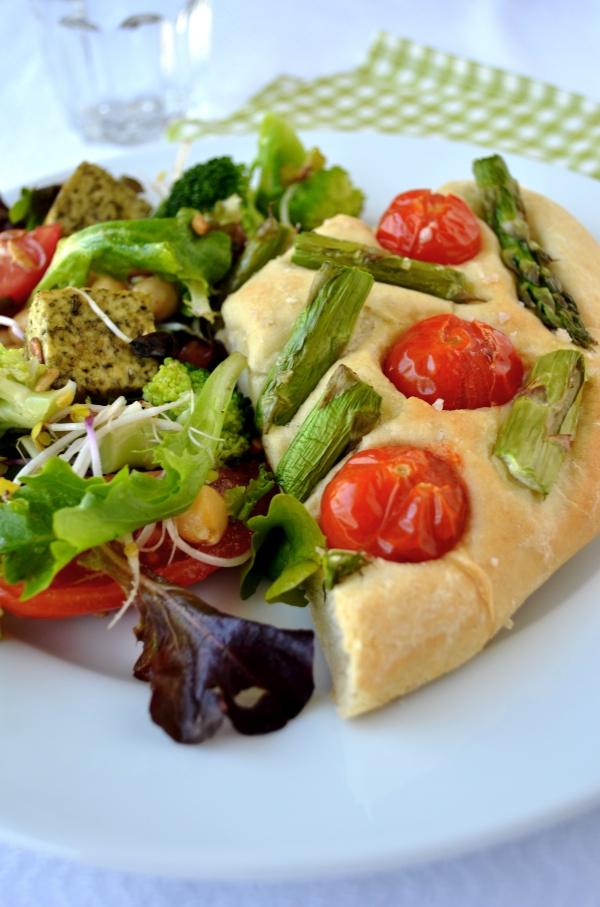 focaccia en salade ©GroenePrinses